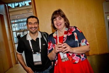 Past and Present SAHCS President: Dr Francesca Conradie and Prof Yunus Moosa